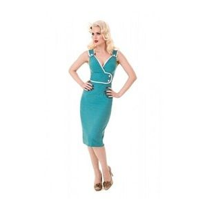 Constance Retro Pinup Wiggle Dress